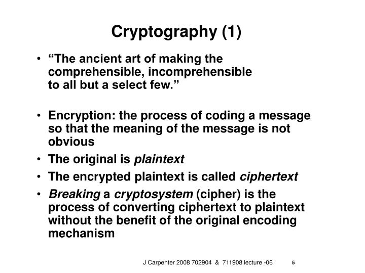 Cryptography (1)