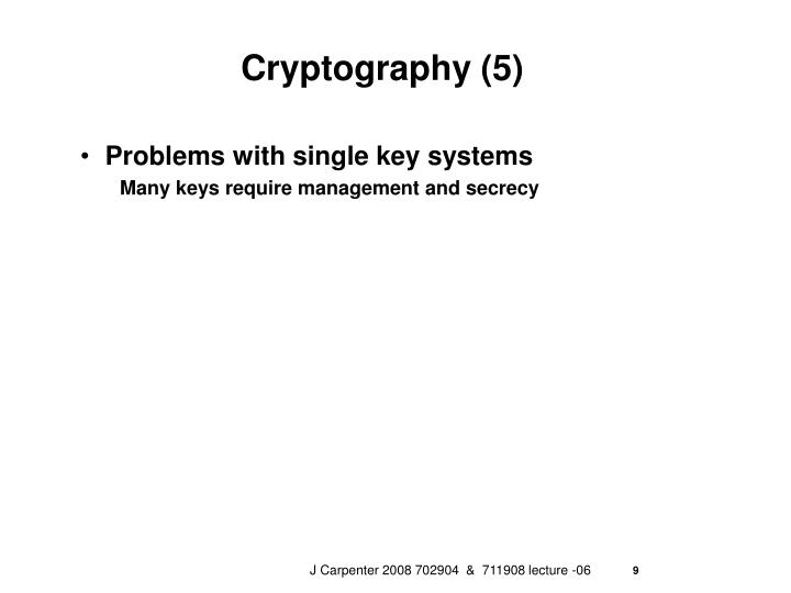Cryptography (5)