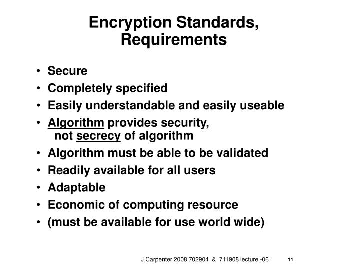 Encryption Standards,