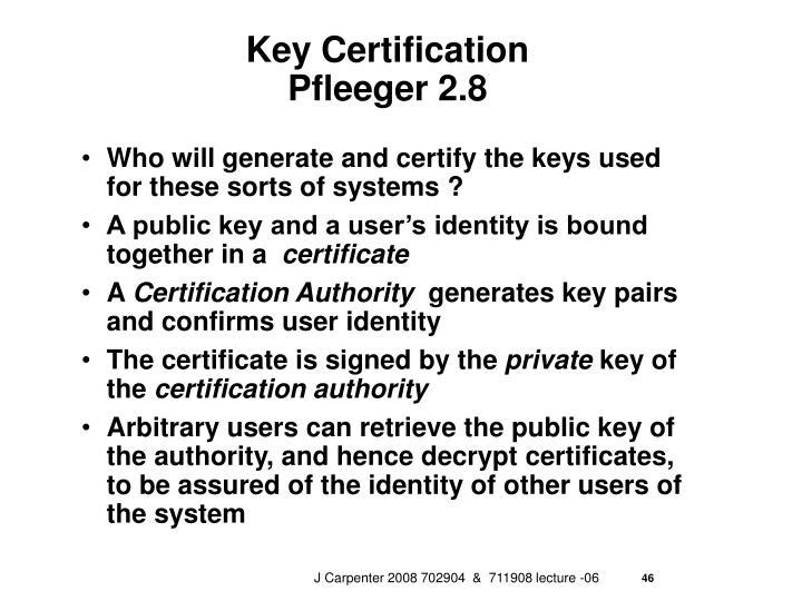 Key Certification