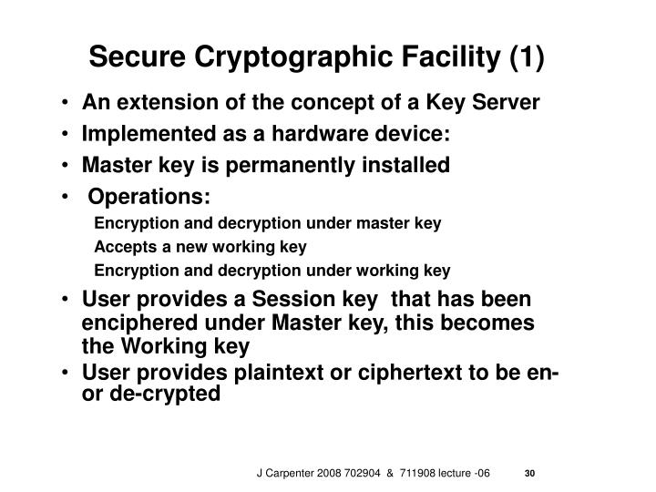 Secure Cryptographic Facility (1)