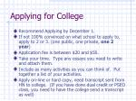 applying for college