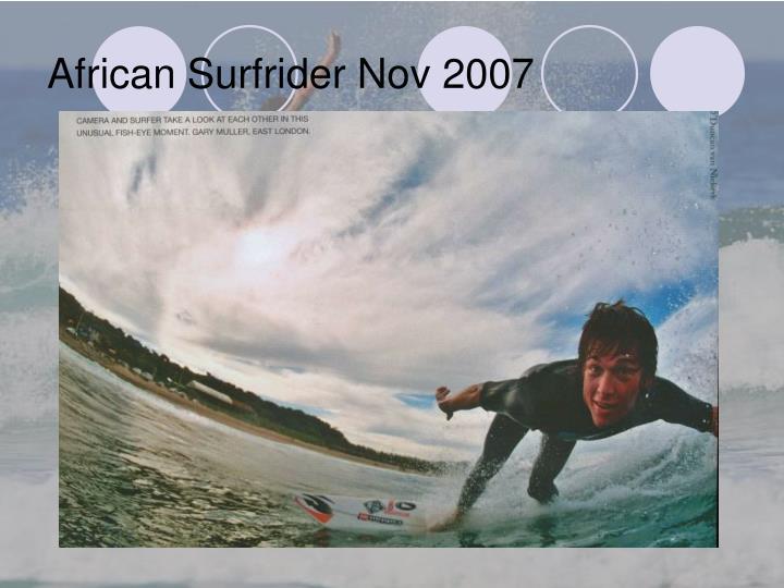 African Surfrider Nov 2007