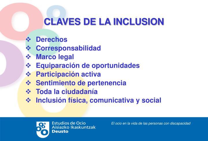 CLAVES DE LA INCLUSION