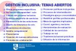gestion inclusiva temas abiertos