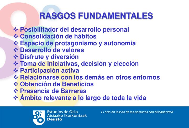 RASGOS FUNDAMENTALES