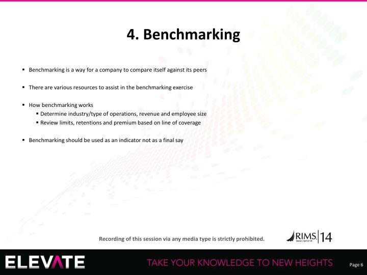 4. Benchmarking