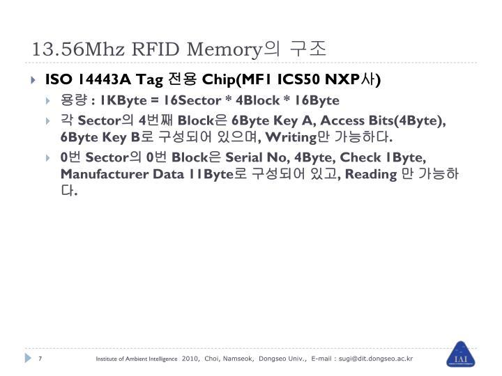 13.56Mhz RFID Memory