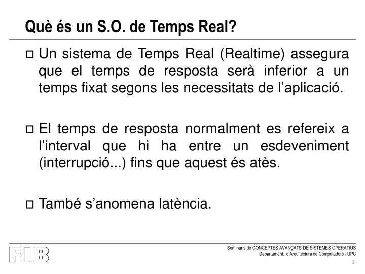 Qu s un s o de temps real