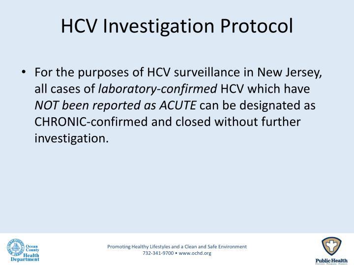 HCV Investigation Protocol