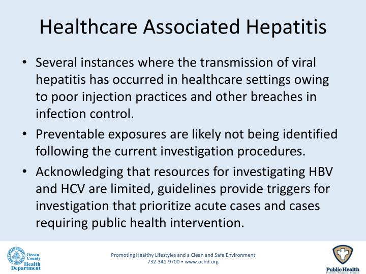 Healthcare Associated Hepatitis
