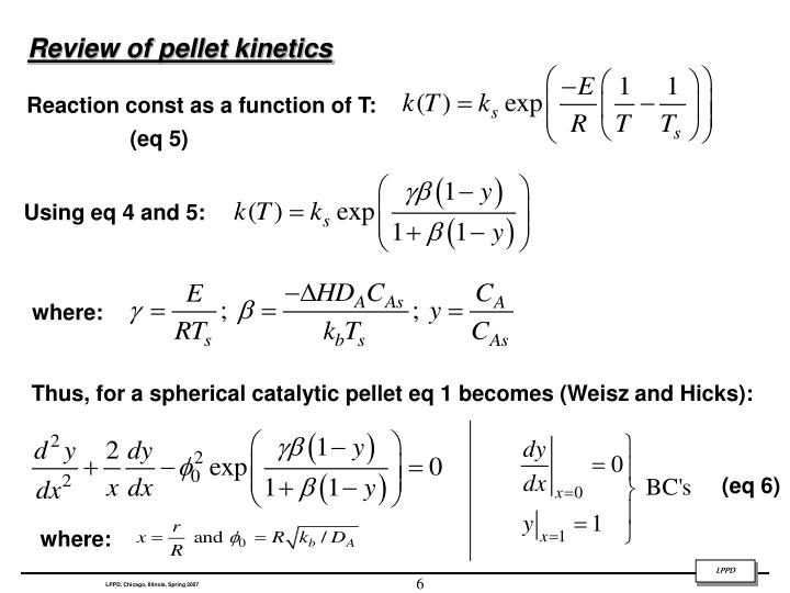Review of pellet kinetics