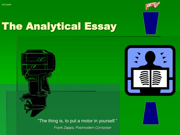 the analytical research paper The analytical essay outline example is a guide for students, professionals, or those people who simply love to write so that they can make properly-structured and.