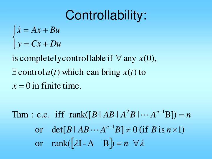 Controllability:
