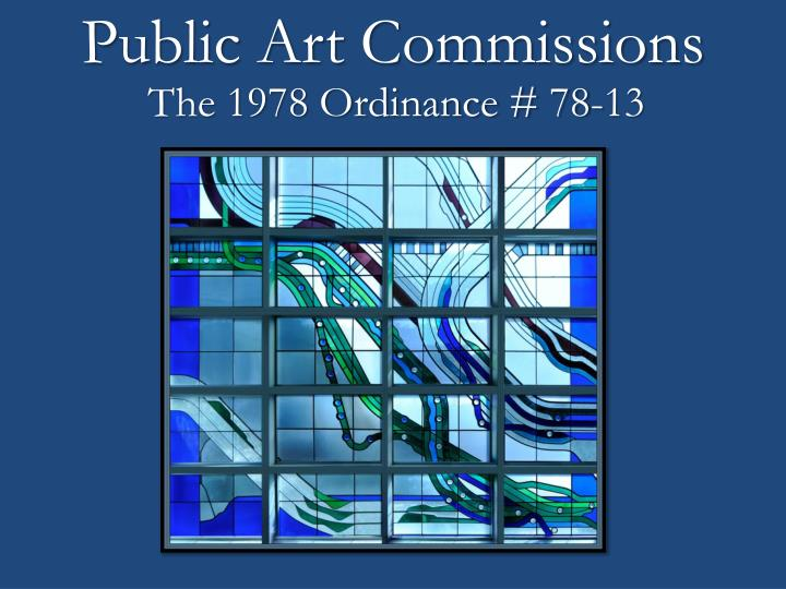 Public Art Commissions