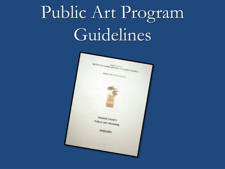 Public Art Program Guidelines