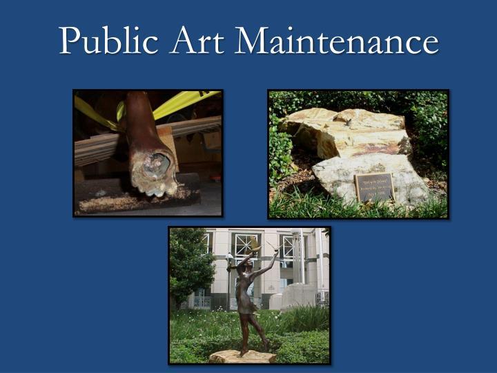 Public Art Maintenance
