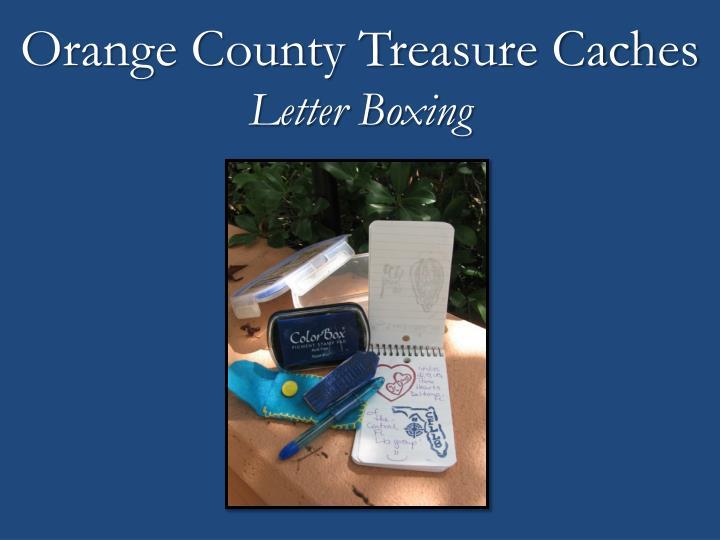 Orange County Treasure Caches