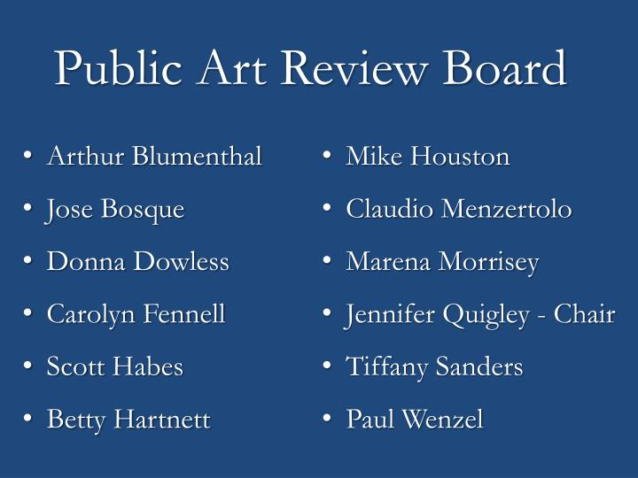 Public Art Review Board