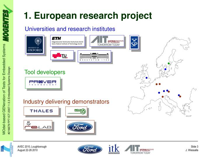 1. European research project