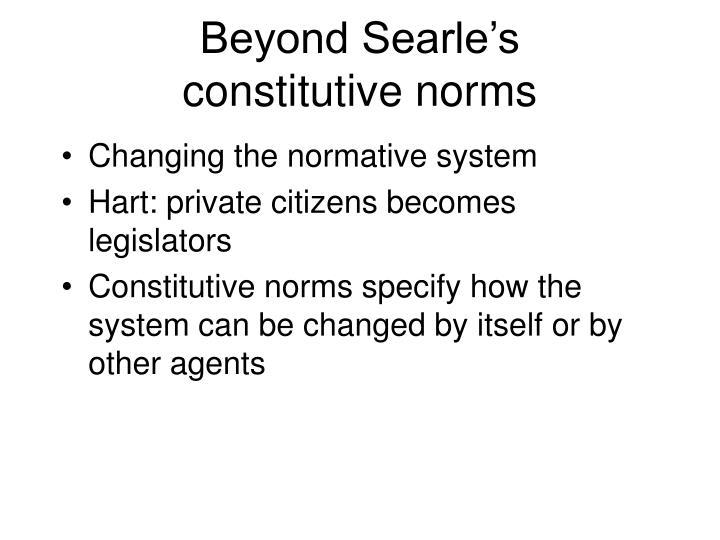 Beyond Searle's