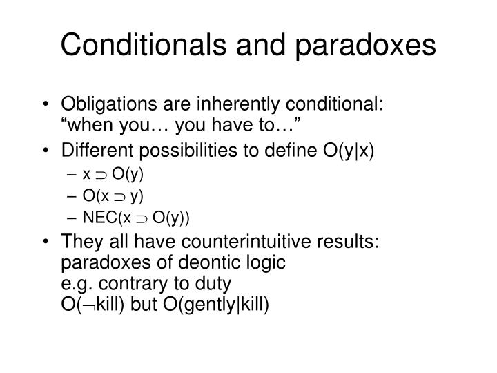 Conditionals and paradoxes
