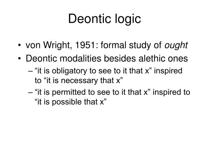 Deontic logic