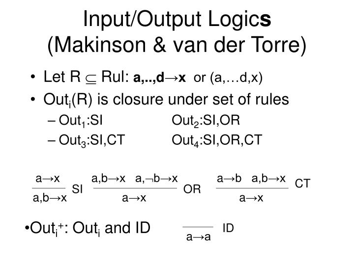 Input/Output Logic