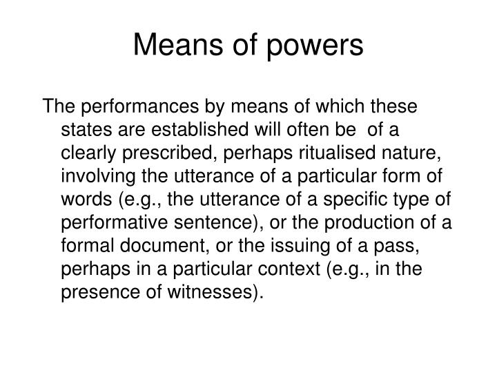 Means of powers