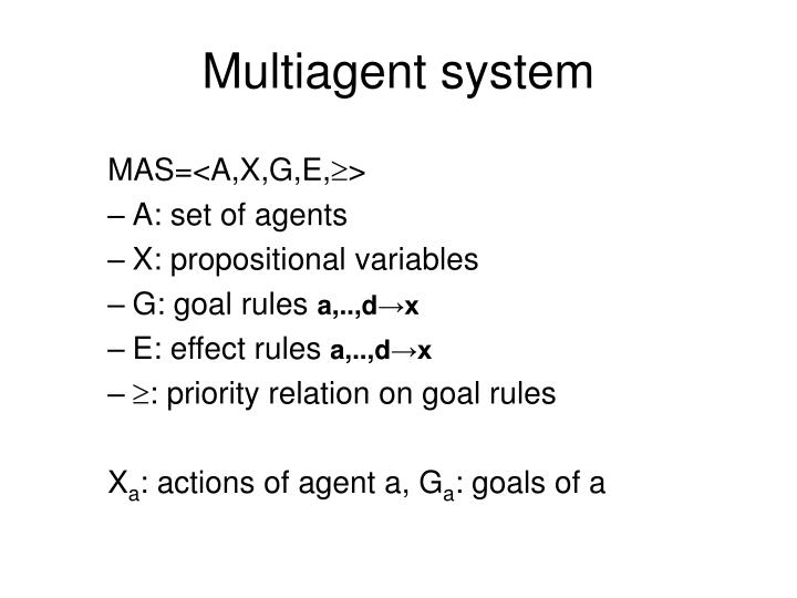 Multiagent system