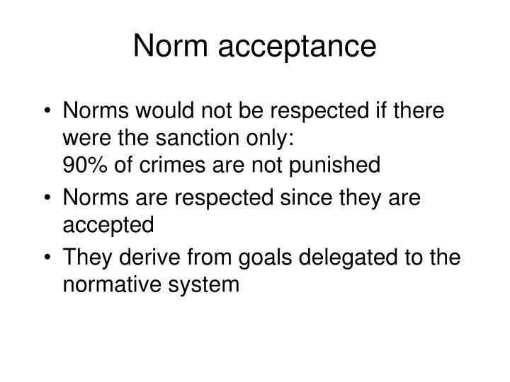 Norm acceptance