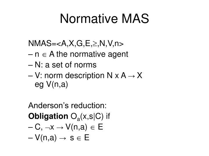 Normative MAS