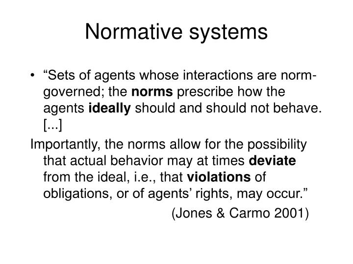 Normative systems