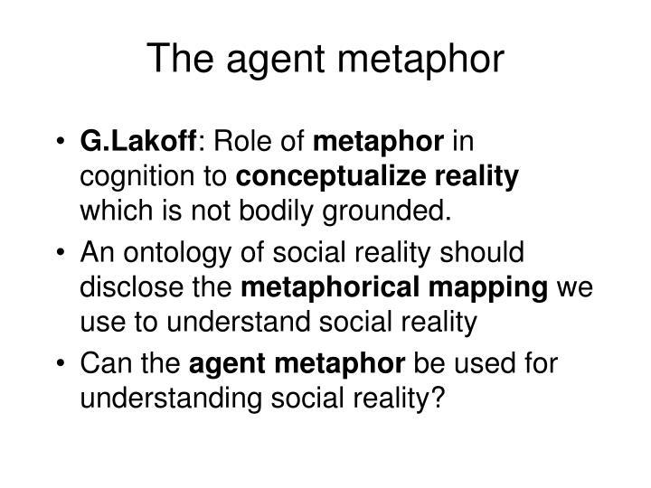The agent metaphor