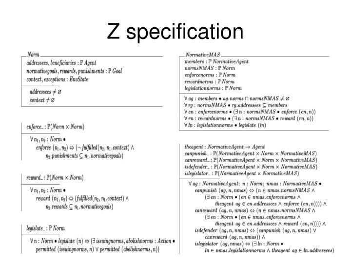 Z specification
