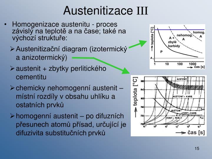 Austenitizační diagram (izotermický a anizotermický)