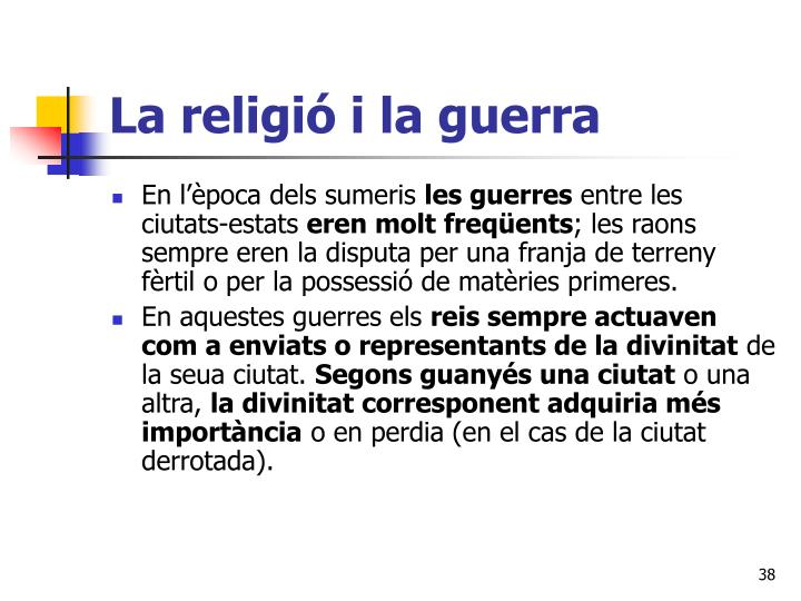 La religió i la guerra