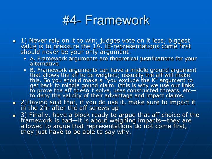#4- Framework