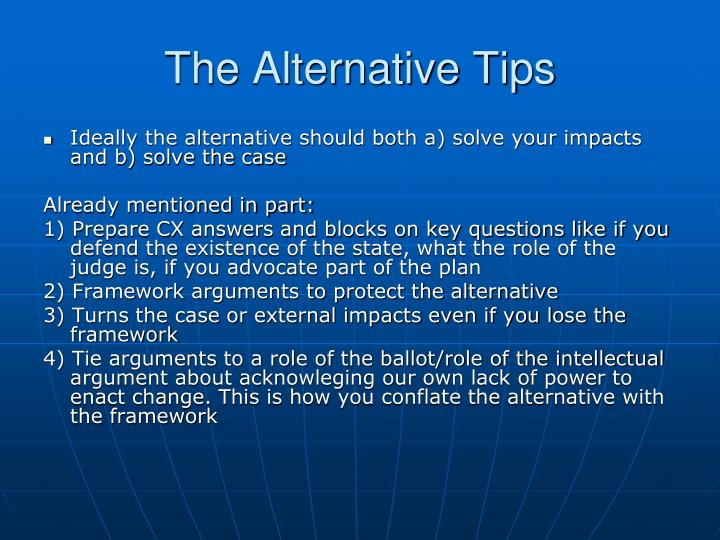 The Alternative Tips