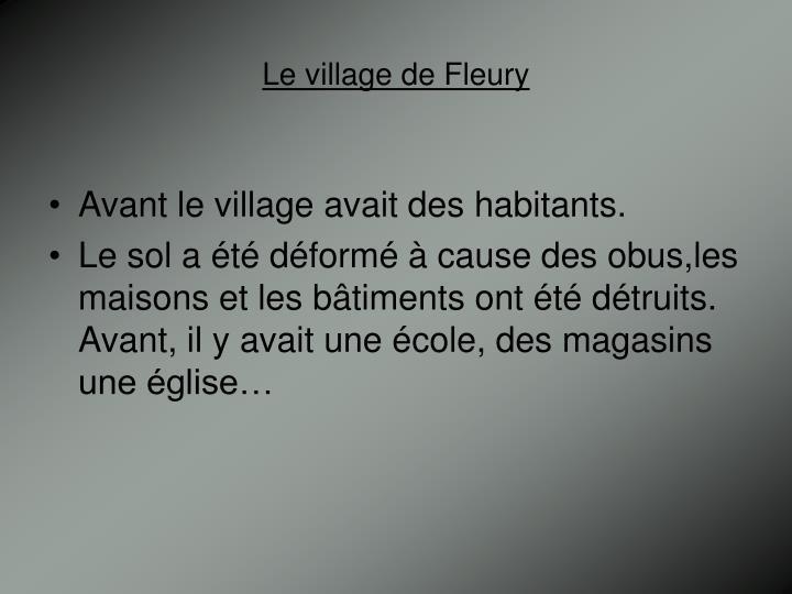 Le village de Fleury