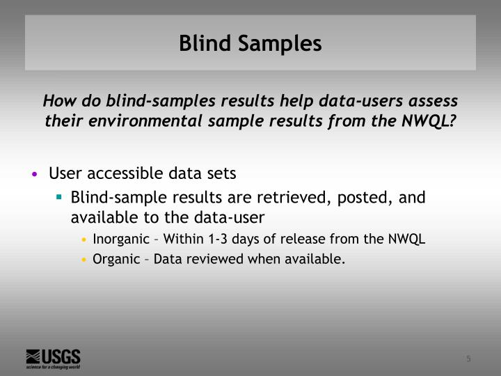 Blind Samples