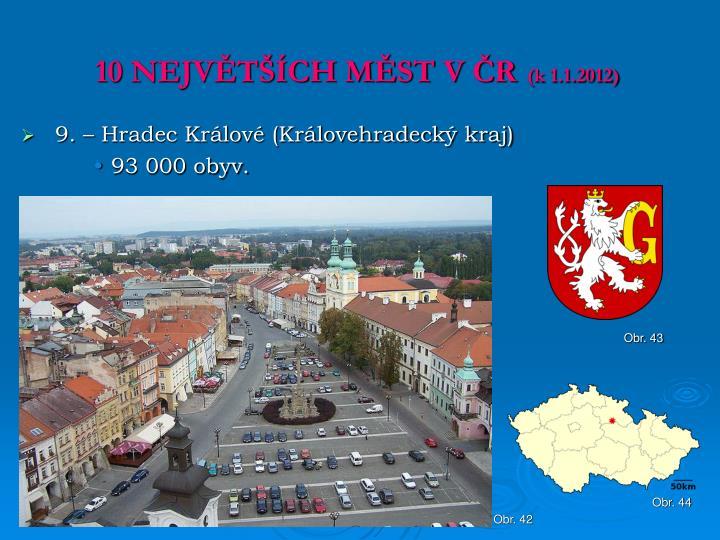 10 NEJVĚTŠÍCH MĚST V ČR