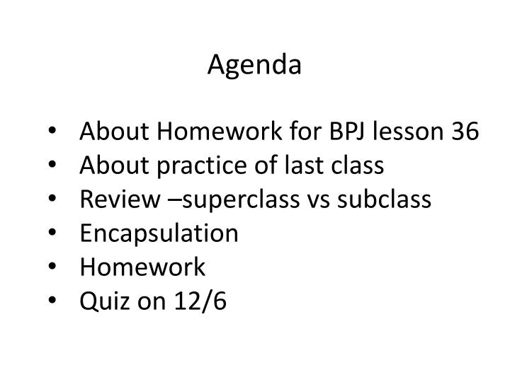 About Homework for BPJ lesson 36