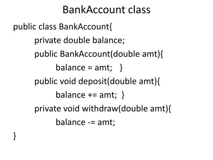 BankAccount class