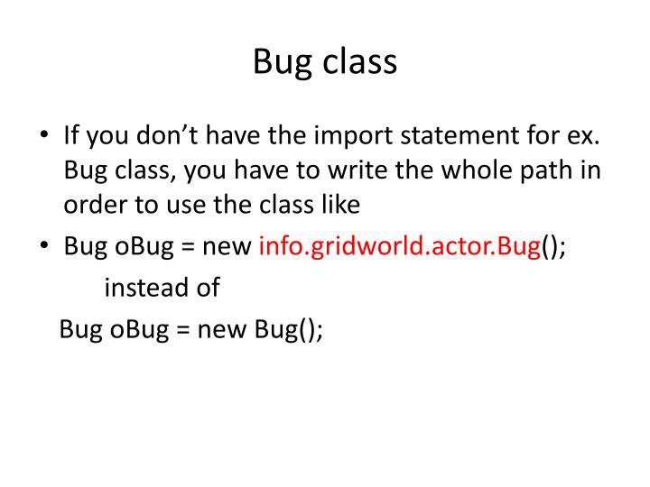 Bug class