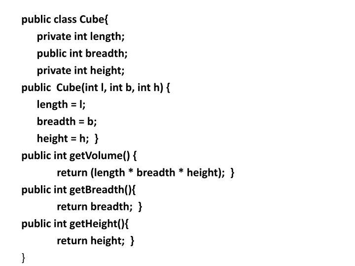public class Cube{