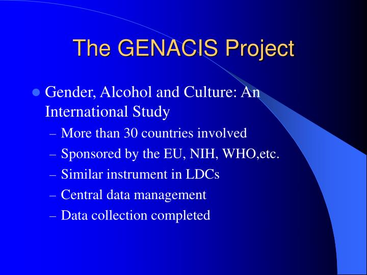 The GENACIS Project