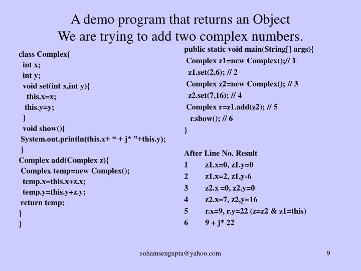 class Complex{