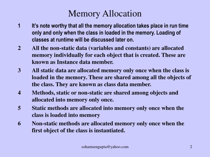 Memory Allocation