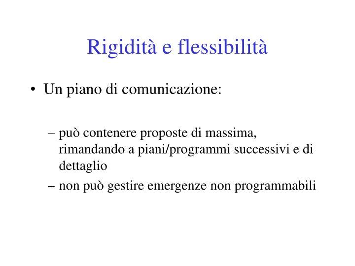 Rigidità e flessibilità